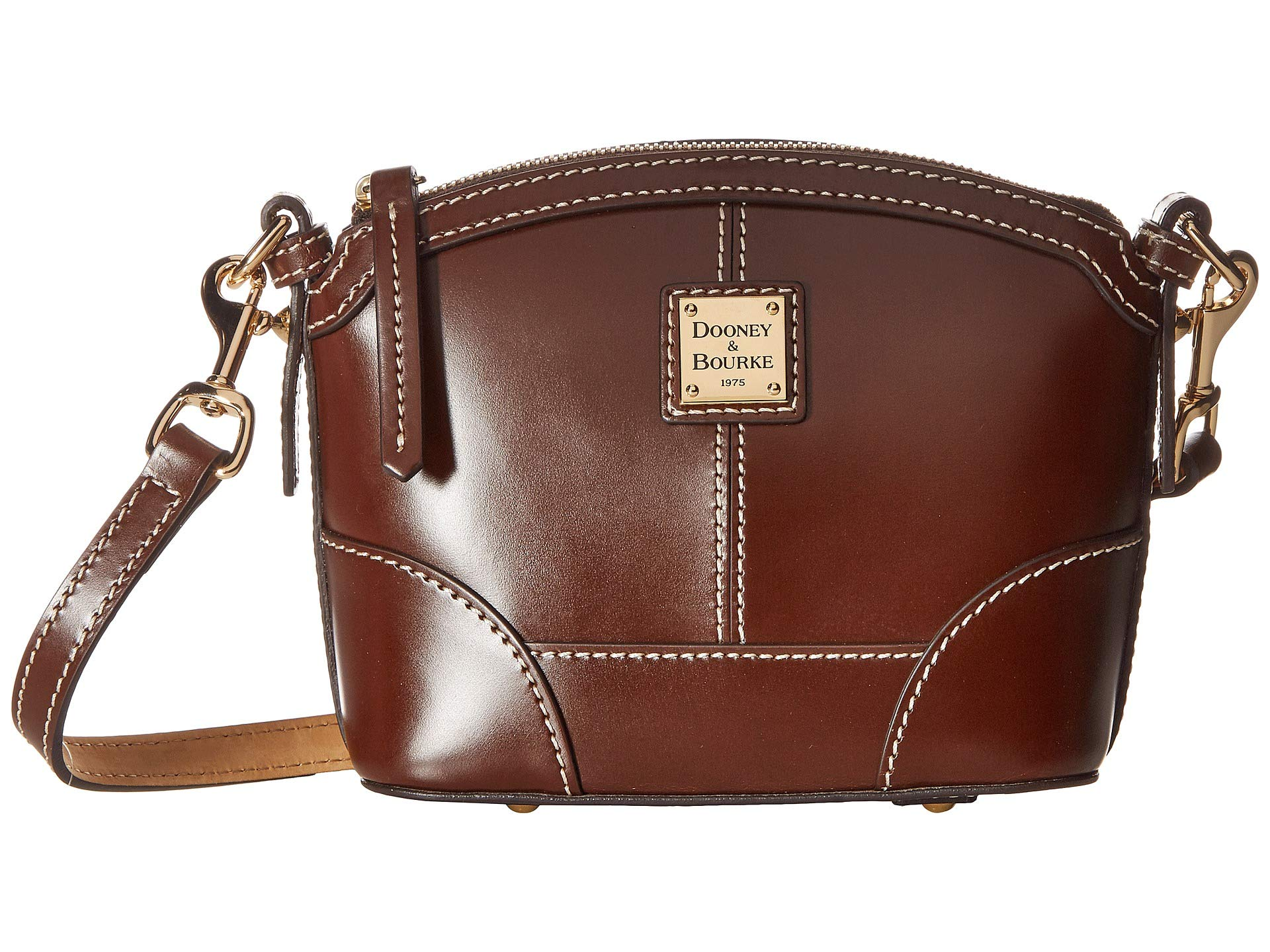 Bourke Trim Crossbody Domed Mini amp; Selleria chestnut Dooney Chestnut 1qxgF58w