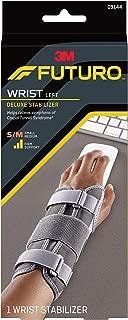 Futuro Deluxe Wrist Stabilizer, Firm Stabilizing Support, Left Hand, Small/Medium, Gray
