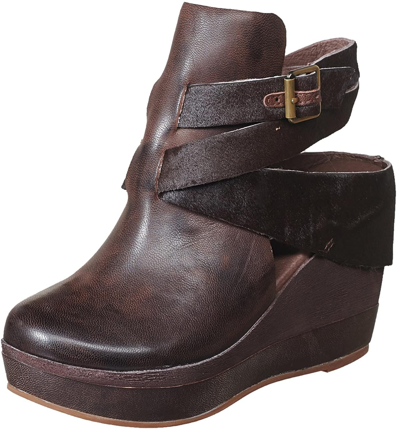 Antelope Women's 957 Leather Hi Wedge Buckle Wrap