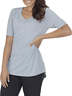 Fruit Of The Loom Women's Essentials All Day Elbow Length V-Neck T-Shirt Shirt