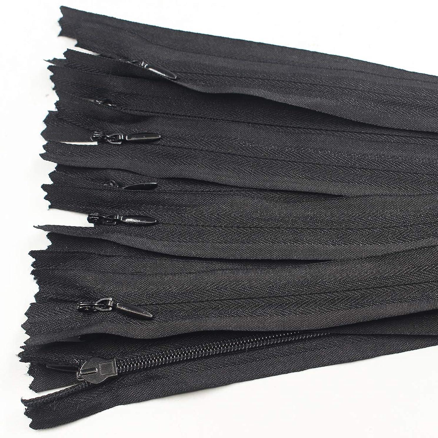 40 PCS Nylon Invisible Zipper Tailor DIY Sewing Tools for Garment/Bags/Home Textile (22 inch. Black, 40pcs)