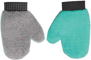 Spotzero by Milton Rubber Boon Microfiber Gloves, Aqua Green & Grey