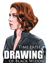 Clip: Time Lapse Drawing of Black Widow