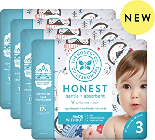 The Honest Company The honest company baby diapers with trueabsorb technology, winter wonder, size 3, 108 count, Winter Wonder, Size 3, 108 Count