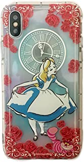 Phone Kandy Embossed 3D Anti Bump Shockproof Drop Proof Floral Clear Transparent Cute Cartoon TPU Silicone Case & Screen Guard (EMB01) (iPhone X, Alice in Wonderland)