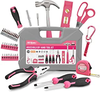 Hi-Spec 42 Piece Household DIY Hand Tool Kit Set. Everyday Repairs at Home & The Office with Practical Tools & Precision S...