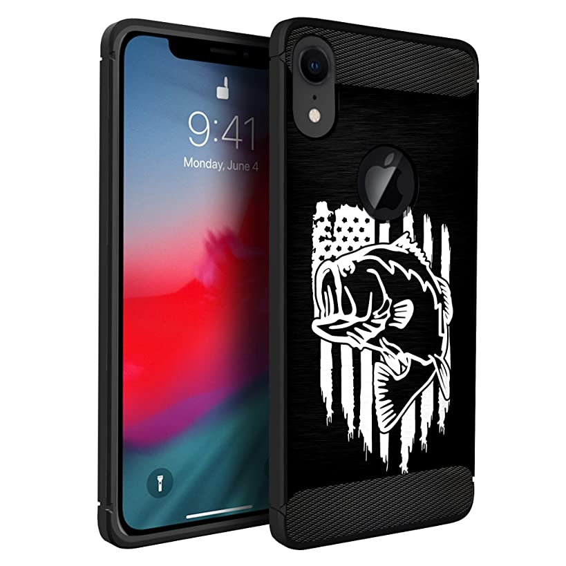 CasesOnDeck Case Compatible with Apple iPhone XR(2018) 6.1 Screen, iPhone 10R, Slim Precise Fit TPU Case, Scratch Protection and Unique Design (Fishing USA Bass)