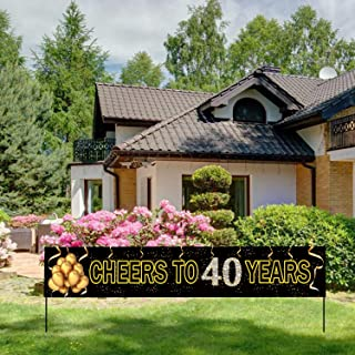 Best 40th birthday yard decorations Reviews