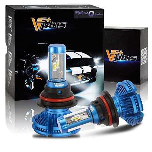 Vplus 2PCS 9007 LED Headlight Bulbs Auto Headlamp Dual Hi/Lo Beam Driving Fog Light