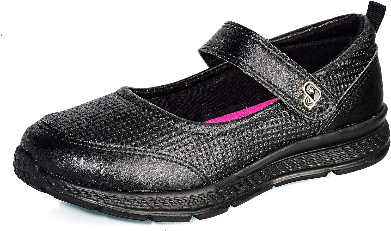 Yamalu Girl's Mary Jane Flat School Uniform Shoes
