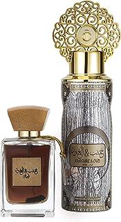 مجموعة هدايا عطر خشب العود الابيض من عربيات للجنسين - او دي بارفان 100 مل & مزيل عرق 200 مل