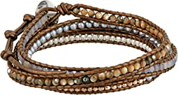 Semi-Precious Stone Five-Wrap Bracelet