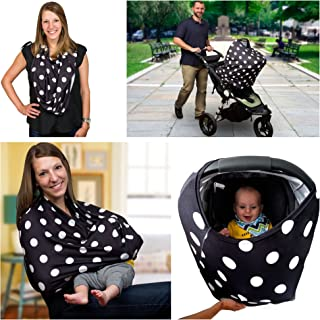 Sprout'n Smiles Nursing Breastfeeding Baby Carseat Cover - Shopping Cart and High Chair Cover, Scarf, Canopy by Sprout'n Smiles for Boys and Girls Baby Shower