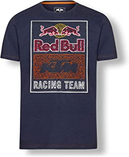 Red Bull KTM Mosaic Graphic T Shirt, Blue Mens Tshirt, KTM Factory Racing Original Clothing & Merchandise