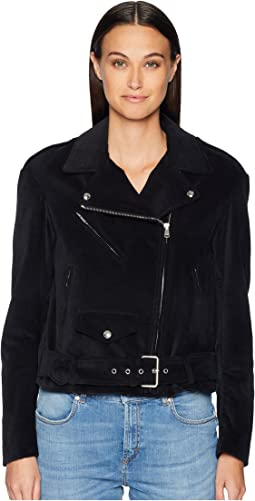 Langtry Cotton Velvet Moto Jacket