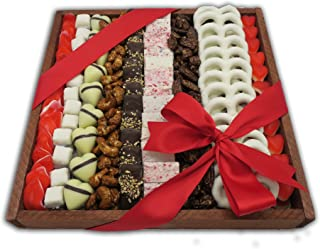 The Nuttery Rectangle Chocolate And Nuts Holiday Gift Arrangement