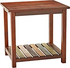 Signature Design by Ashley - Mestler Rustic Chairside End Table Brown, Brown/Multi Colored