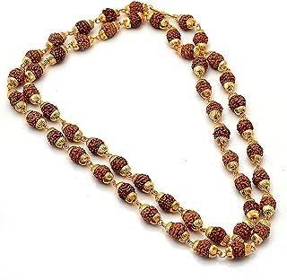 Oyshome Rudraksh Mala Gold Plated Chain