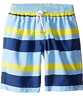 Oscar de la Renta Childrenswear Striped Classic Swim Shorts (Toddler/Little Kids/Big Kids)