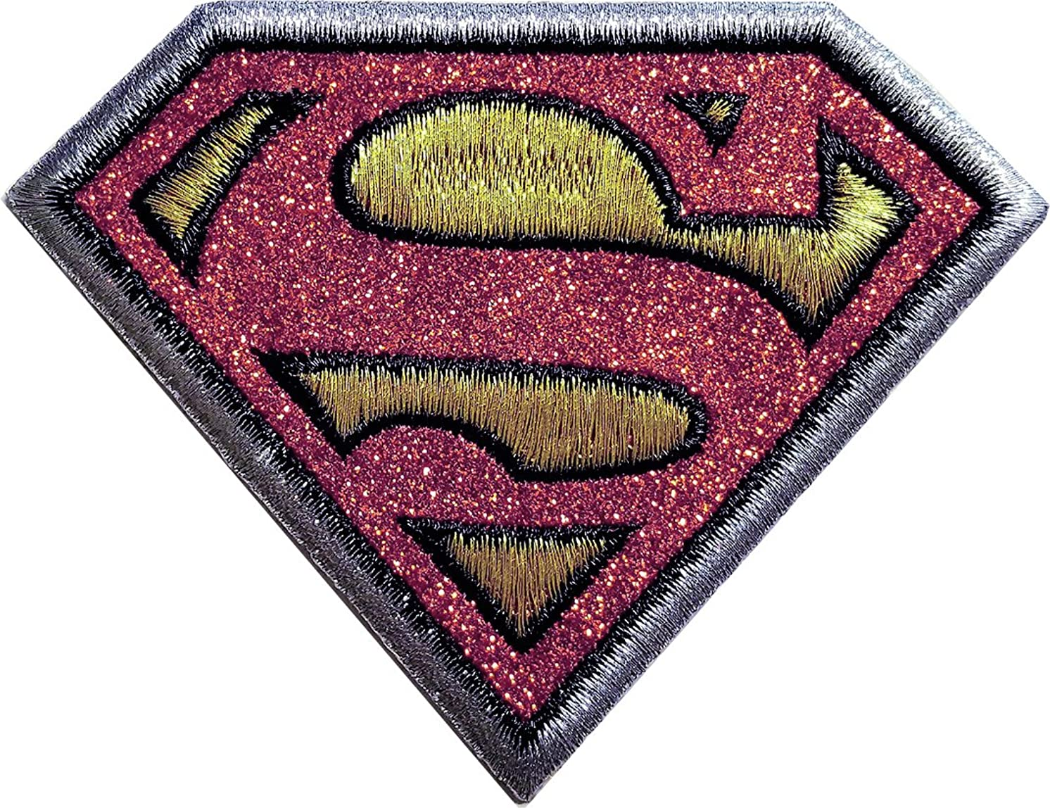 Application DC Comics Originals Superman Logo with Gold Glitter Patch, 2