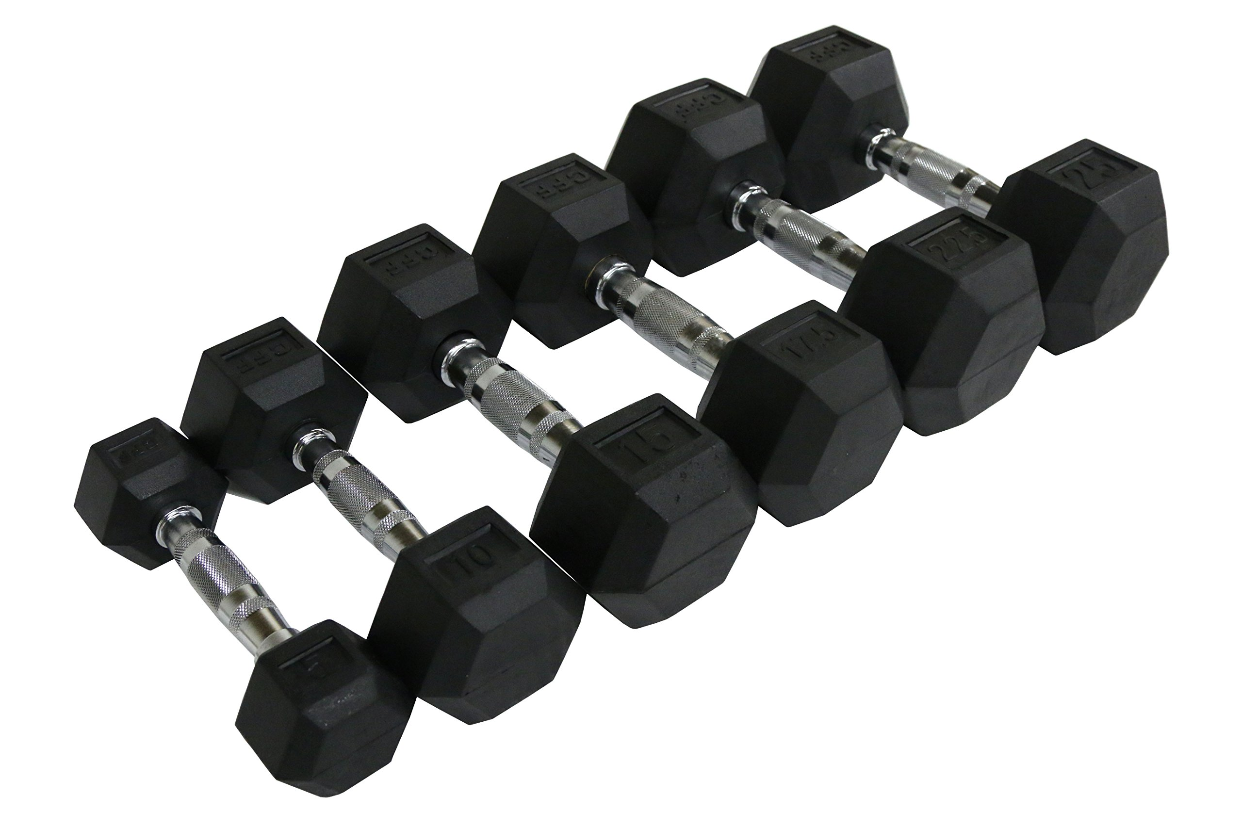CFF Rubber Hex Dumbbell- 5lbs - (Single Dumbbell): Amazon.es ...