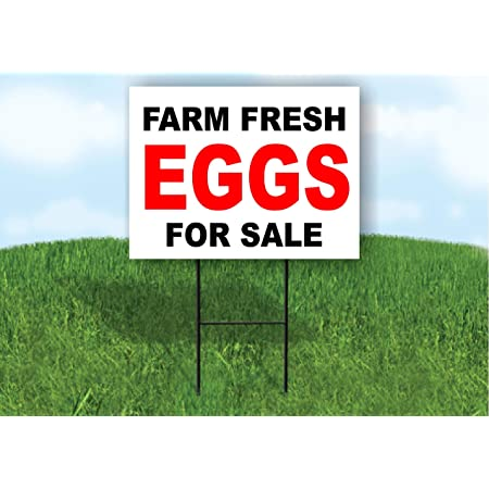 FREE RANGE EGGS FOR SALE OUTDOOR SIGN waterproof banner PVC with Eyelets 003