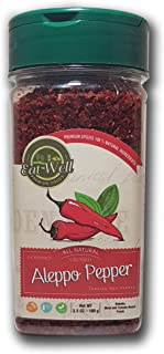 Best Eat Well Premium Foods - Aleppo Pepper Flakes 3.5 oz - 100 gr, Crushed Turkish Chili Pepper, Middle Eastern Red Pepper - Maras Chili Pepper, Product of Turkey, Halaby, Syrian Pepper, Pul Biber Review