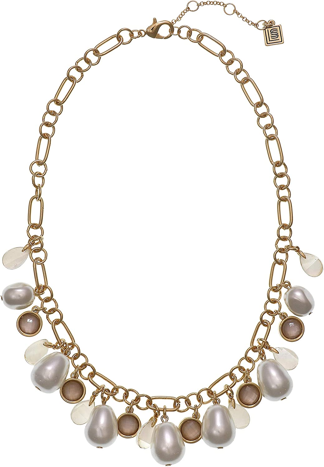 Laundry by Shelli Segal Beaded Pearl Collar Necklace