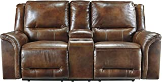 Signature Design by Ashley Jayron Harness Reclining Loveseat with Console