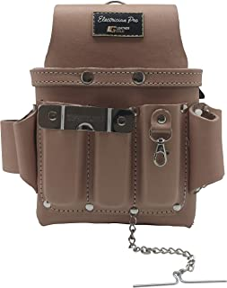 Leather Gold Leather Electrician Tool Pouch, Tan | Professional Tool Belt 3400