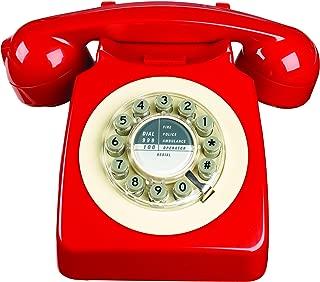 Wild Wood 746 Phone, Retro Design, Red