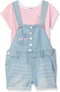 DKNY Girls' 2 Piece Fashion Top and Shortall Set