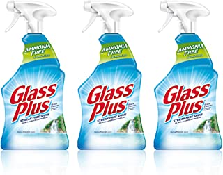 Sponsored Ad - Glass Plus Glass Cleaner, 32 fl oz Bottle, Multi-Surface Glass Cleaner (Pack of 3)