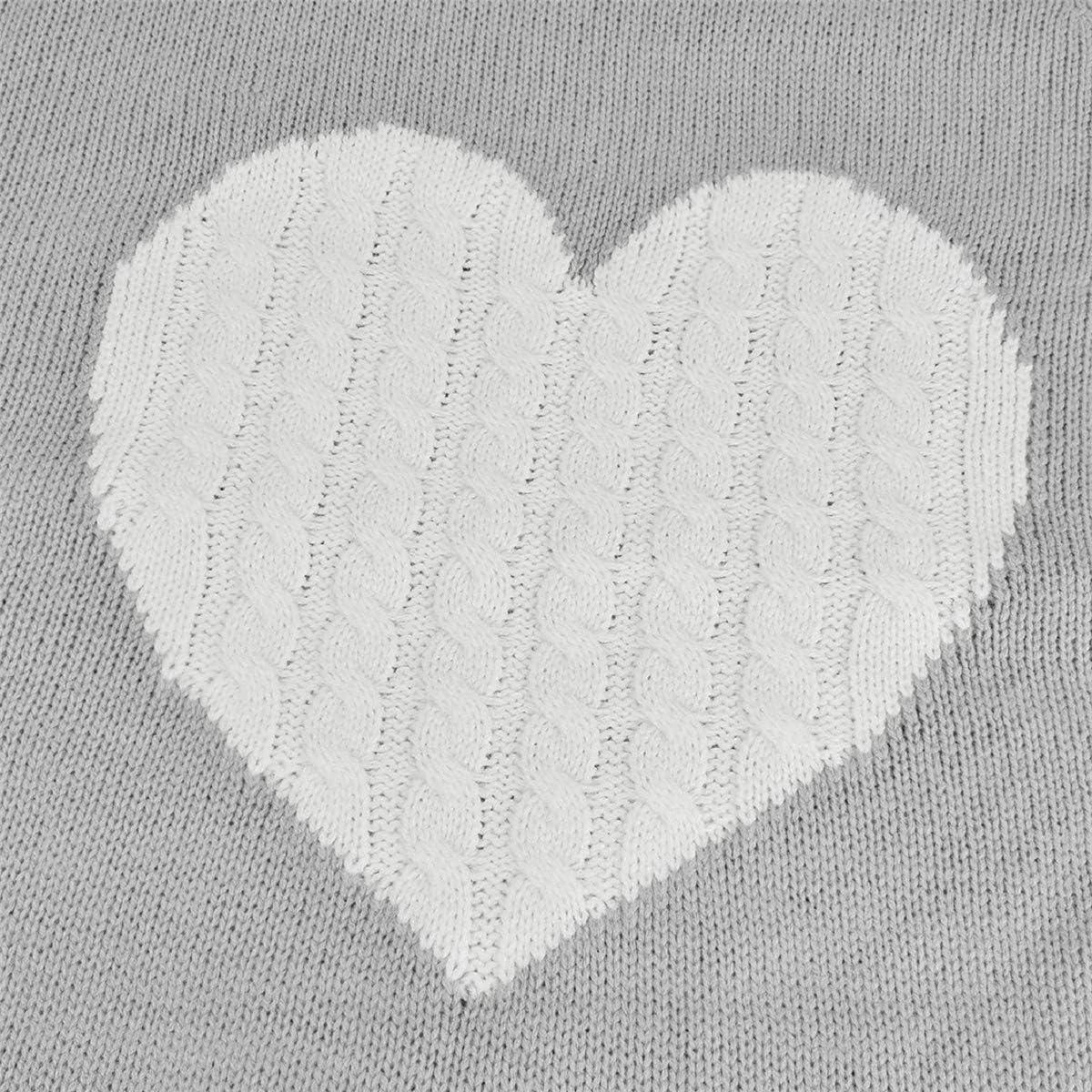 Tuopuda Jersey Mujer Oto/ño Punto Su/éter B/ásico Jers/éis Casual s/ólido Largo Manga Jersey Amor su/éter Suelto Sudaderas de O-Cuello Invierno Oversize Blusas Tops