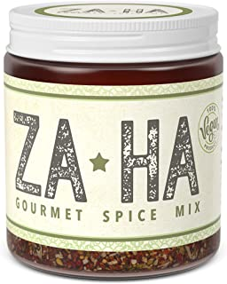 Za-Ha Award Winning Zaatar Seasoning, Zaatar Spices & Herbs, Zatar Seasoning, Zatar Spice Mix. Roasted Garlic 100% Organic Vegan Spice Mix. Adds Richness and Makes Every Meal Delicious.