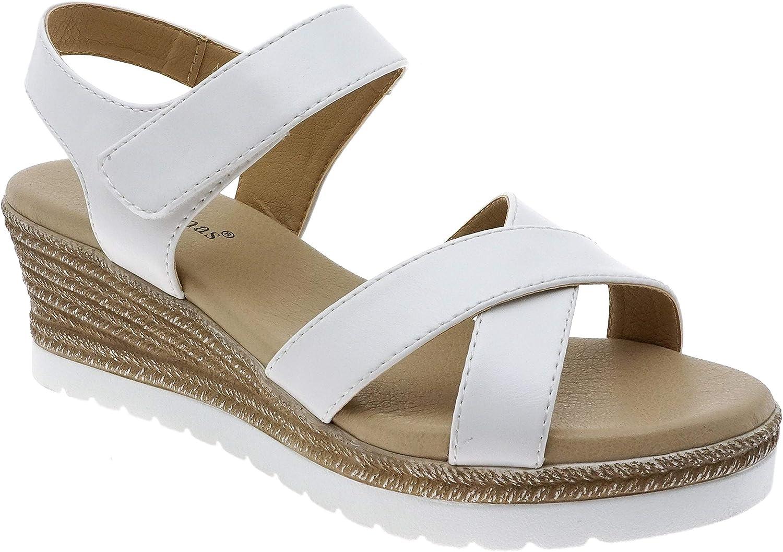 Pierre 時間指定不可 Dumas Women's Wedge Platform Sandals 定番スタイル
