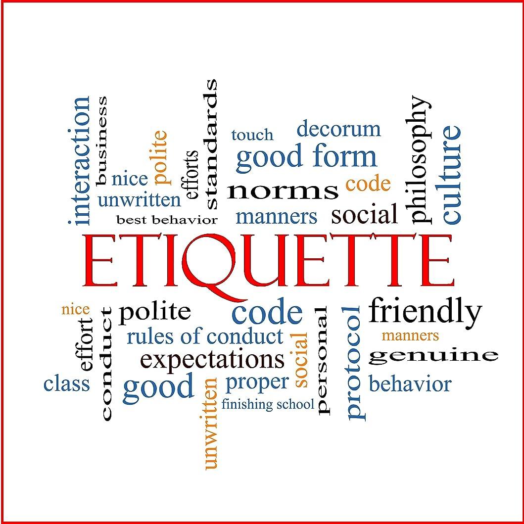 標準放棄交差点Etiquette - Basic mealtime behavior rules - The etiquette table setting - Table etiquette rules (English Edition)