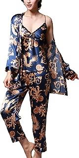Silk Pajamas Womens Silky Pajama Sets 3 pics Pajama Set Soft Comfy Nightwear