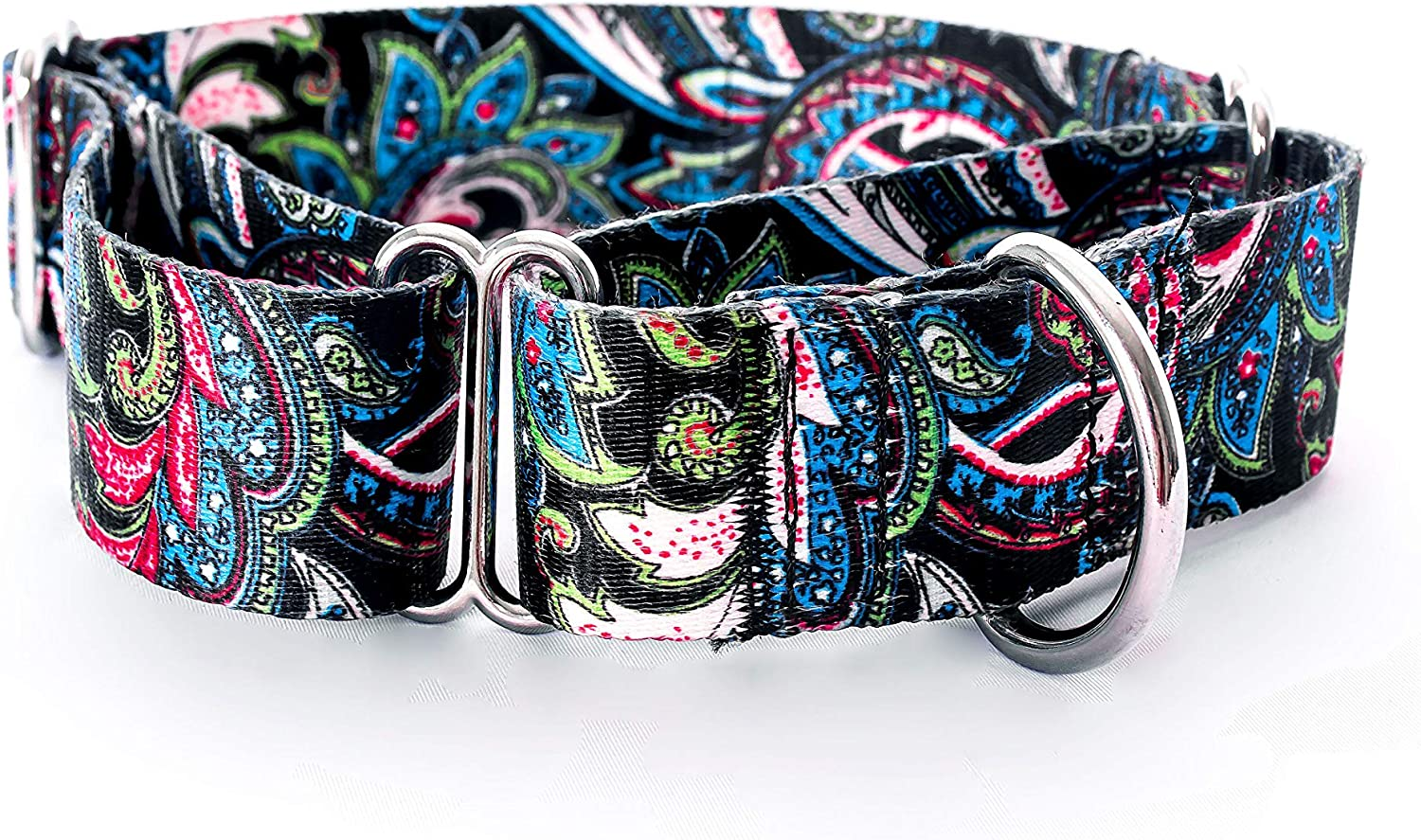 Complete Free Shipping Martingale Dog Collar Medium Extra Pattern- Paisley Wide Tr Challenge the lowest price of Japan ☆ Teal