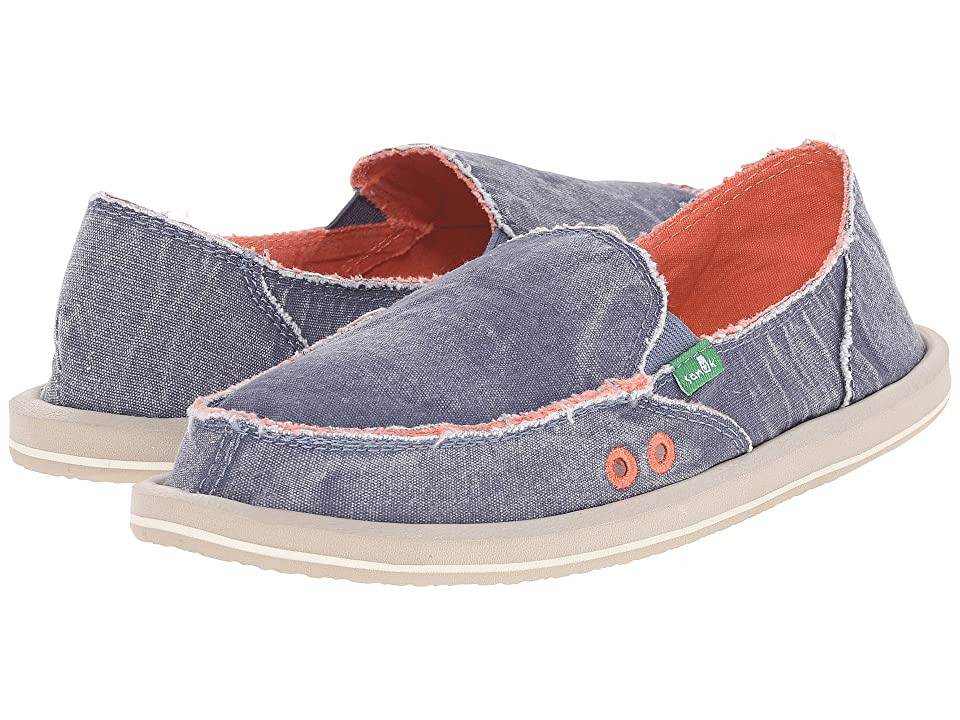 Sanuk Donna Distressed (Slate Blue) Women