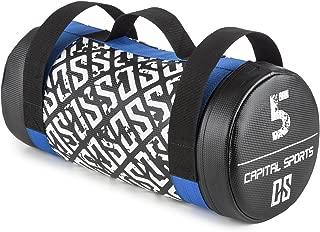 CAPITAL SPORTS Thoughbag Power Bag Saco de arena 5 kg Cuero artificial (Entrenamiento fuerza resistencia, tiros, oscilaciones, empujes, revestimiento suave, 3 asas de nylon resistente)
