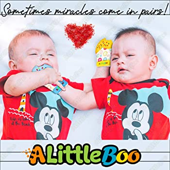 A Little Boo Baby Teething Mitten -Teether Glove -Infants Newborn Teething Toy [Food Grade Silicone] [Teething Pain R...