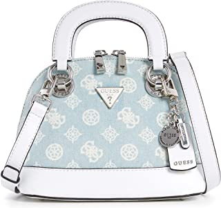 Guess Cessily Dome Satchel Bag S Denim Poeny