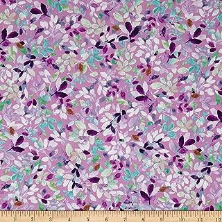 QT Fabrics Jacqueline Leaves Pink