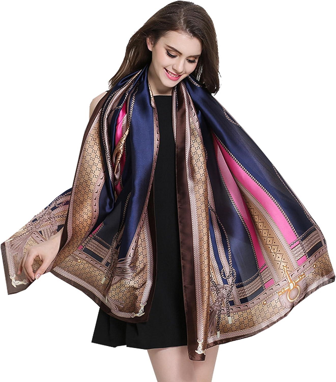 KELewon Silk Scarf Fashion Scarves Long Lightweight Shawls for Women 063