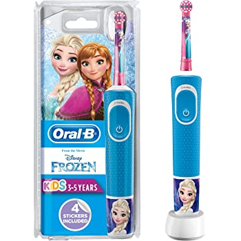 Oral B Stages Power Kids Electric Rechargeable Toothbrush with Disney Frozen Characters, 1 Handle, 1 Brush Head, UK 2 Pin Plug for Ages 3+