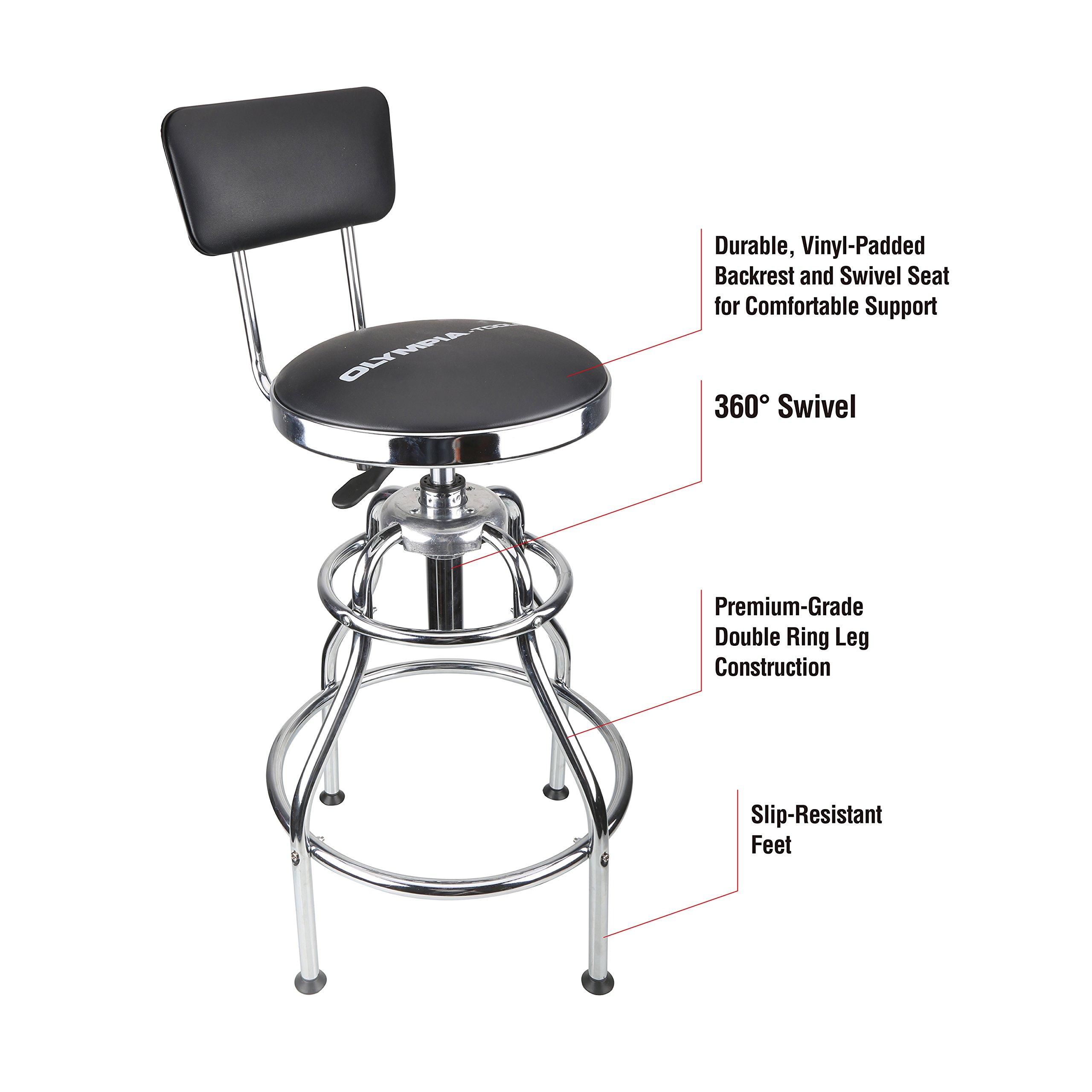 Craftsman Adjustable Hydraulic Seat Vinyl Padding Slip Resistant  Free Shipping