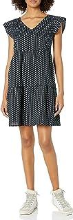 Goodthreads Washed Linen Blend Flutter Sleeve Peasant Dress Dresses Donna