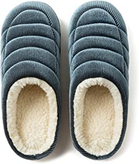 ULTRAIDEAS Women's Cozy Memory Foam House Slippers, Ladies' Vintage Bedroom Corduroy Shoes, Winter Slip On Slippers with A...