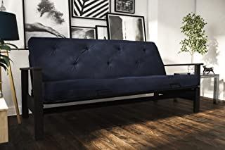 DHP Bergen Convertible Futon with 6-inch Coil Mattress, Navy